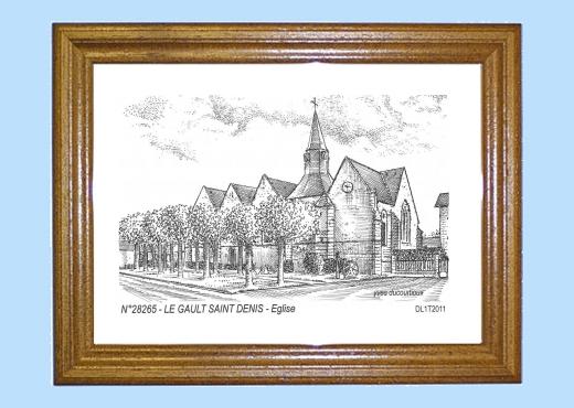 Cadre bois teint impression noir sur la ville de le gault saint denis titre glise - Piscine foret noire allemagne saint denis ...