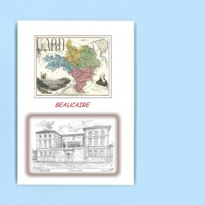 Cartes postales impression noir avec d partement sur la for Recherche hotel sur carte