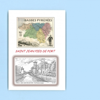 Cartes postales de st jean pied de port 64 pyrenees for Construction piscine saint jean pied de port