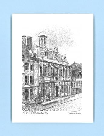 Cartes postales impression noir sur la ville de troyes for Recherche hotel sur carte