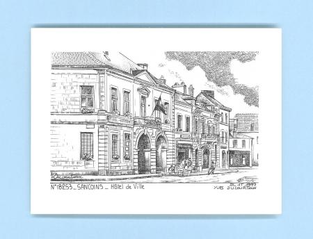 Cartes postales de sancoins 18 cher yves ducourtioux for Recherche hotel sur carte