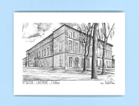 cartes postales impression noir sur la ville de laverune titre chateau. Black Bedroom Furniture Sets. Home Design Ideas