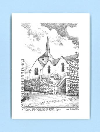 Cartes postales impression noir sur la ville de st gervais la foret titre glise - Piscine foret noire allemagne saint denis ...