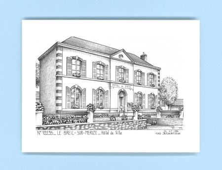 Cartes postales impression noir sur la ville de le breil for Recherche hotel sur carte