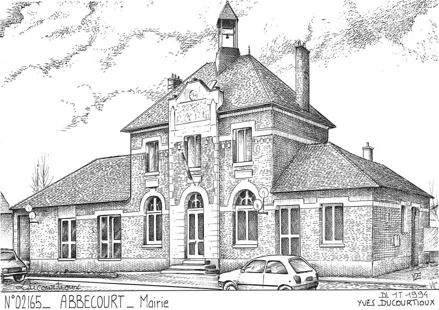 N° 02165 - ABBECOURT - mairie