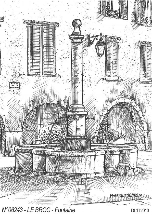 N° 06243 - LE BROC - fontaine