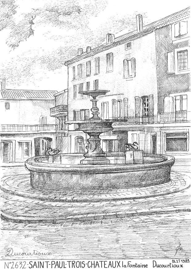Cartes postales de fontaine yves ducourtioux editeur for Piscine st paul trois chateau