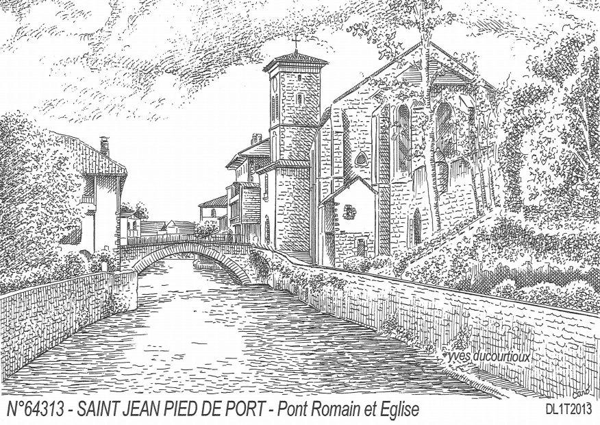 Cartes postales de jaxu 64 pyrenees atlantiques yves for Construction piscine saint jean pied de port