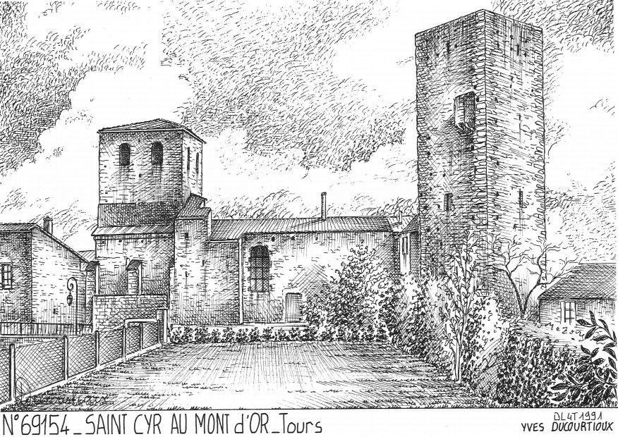 cartes postales de st cyr au mont d or 69 rhone yves ducourtioux editeur souvenirs ville