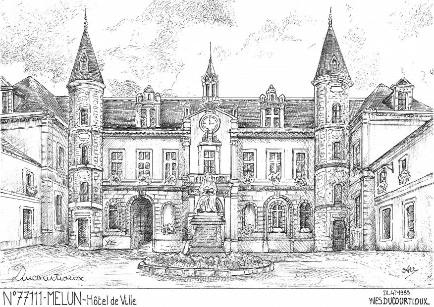Cartes postales de montarlot 77 seine et marne yves for Departement melun