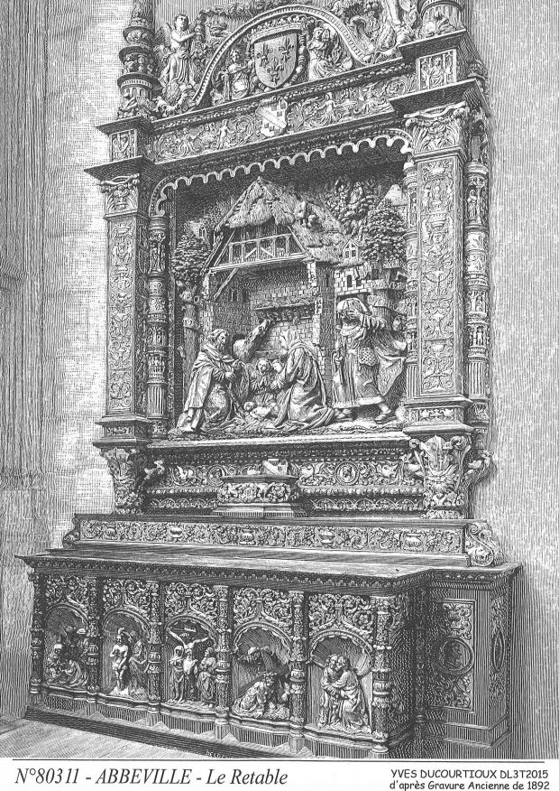 N° 80311 - ABBEVILLE - le retable (d